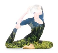 Yoga, double exposure by Victor Tondee