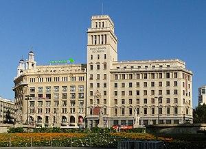English: Banco Español de Crédito on Plaça de ...