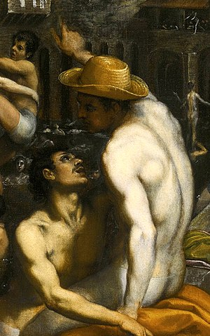 Part of the Painting Bathers at San Niccolo