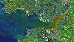 English: Landsat 7 image of the Bristol Channel