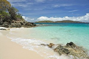 Turtle Bay Beach at Caneel Bay.