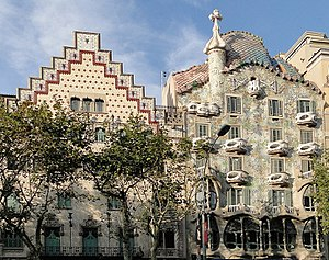 Casa Amatller and Casa Batlló on Passeig de Gr...