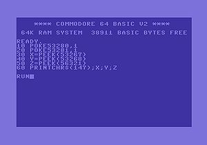 Commodore Basic on a C64