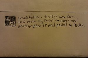"Emergency ""Twitter was down so I wrote my..."