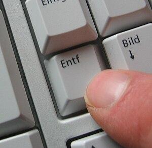 DELETE-Key on a keyboard