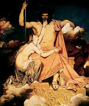 Thetis and Zeus, Ingres: