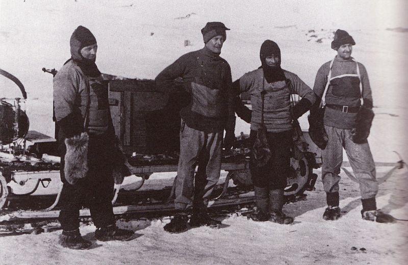 Motorised sleds - Terra Nova Expedition