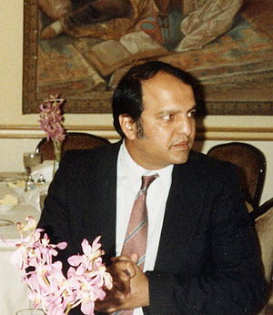 English: Mowahid Hussain Shah at a banquet in ...