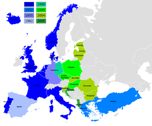 map of NATO members