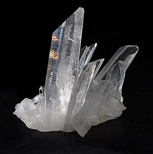 Quartz, Tibet. Français : Cristal de roche pro...