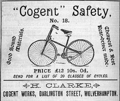Advertisement for a Cogent Safety Bicycle, Bar...