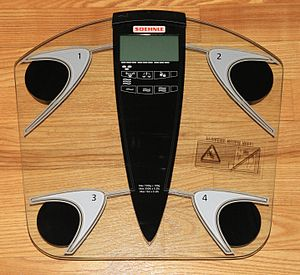 English: Soehnle body scale with integrated bo...