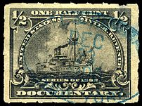 A rouletted revenue stamp, US 1898