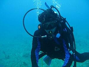 English: SCUBA diving Español: Buceo SCUBA