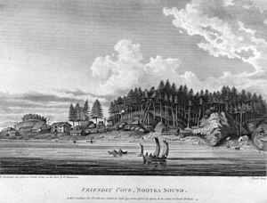 Friendly Cove, Nootka Sound. Volume I, plate V...