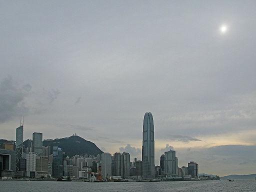 Altostratus clouds over Hong Kong