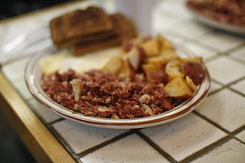Corned beef hash at the Creamery (Nina's break...