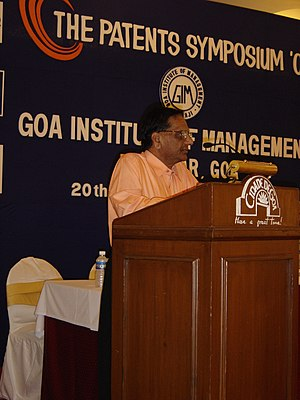 Dr Reddy addressing at Patent Symposium