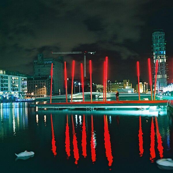 Docklands at nigh, Dublin