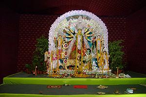 Durga at Durga puja celebration.