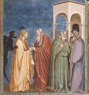 Giotto - Scrovegni - -28- - Judas Receiving Pa...