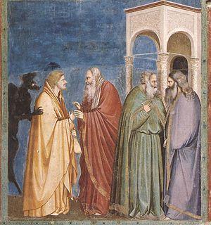 Giotto - Scrovegni - -28- - Judas Receiving Pa...