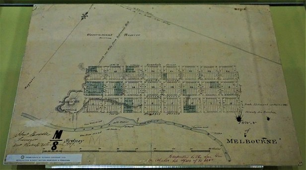 Hoddle's 1837 Survey of Melbourne - www.joyofmuseums.com - Old Treasury Building, Melbourne