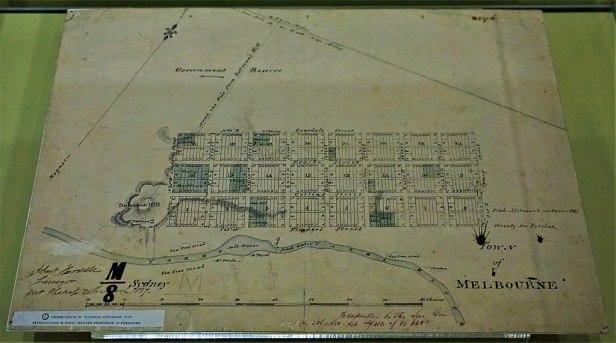 Hoddle's 1837 Survey of Melbourne - www.joyofmuseums.com - Old Treasury Building, Melbourne