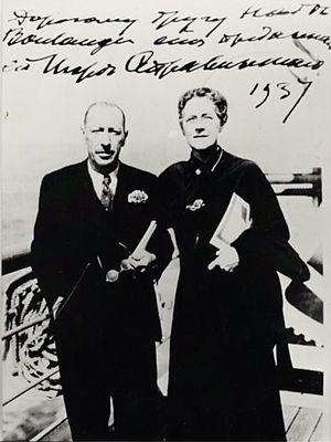 Igor Stravinsky (1882-1971) and Nadia Boulange...