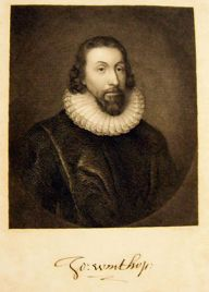 English: Lithograph of John Winthrop, early go...