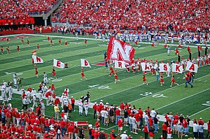 Football game at the University of Nebraska on...