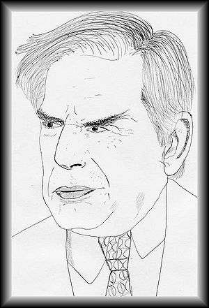 This is a portrait of Mr.Ratan Naval Tata made...
