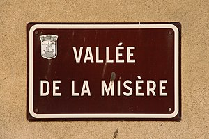 "English: Street sign of the ""Vallée de la..."