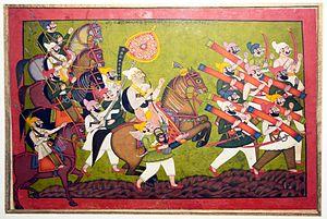 English: Royal procession of Raja Sunman Singh...
