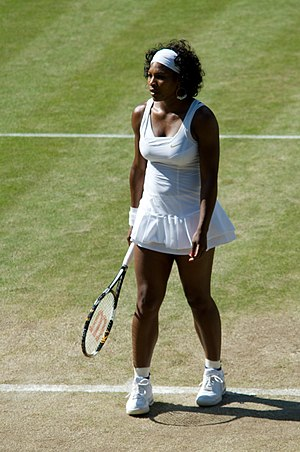 Serena Williams at the 2008 Wimbledon Champion...