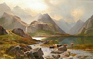 English: Loch Coruisk, Isle of Skye Oil on can...
