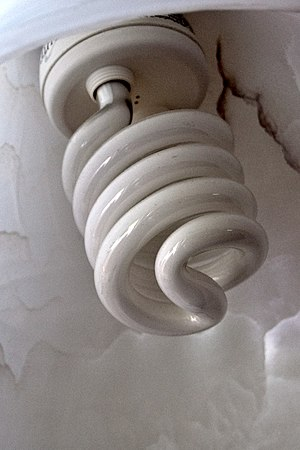 Spiral shaped light bulb