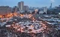 ميدان التحرير أثناء ثورة 25 يناير