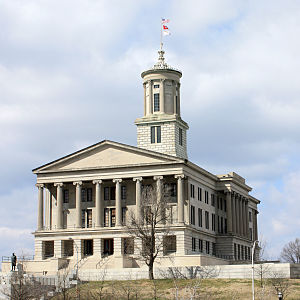 English: Tennessee State Capitol in Nashville,...