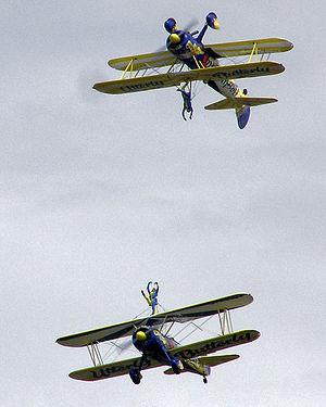 The UK Utterly Butterly display team flying Bo...