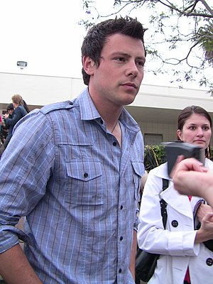Actor Cory Monteith at premiere party of TV se...