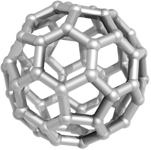English: Fullerene molecule (C 60 ).