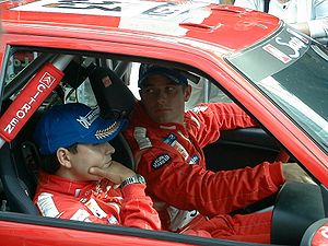 Sébastien Loeb and Daniel Elena at the 2001 Ra...