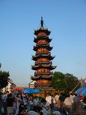 The Longhua Pagoda of Longhua Temple in Shangh...