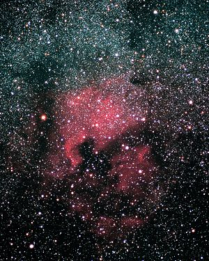 English: North America Nebula, as seen in Belg...
