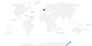 French overseas departments, territories and c...