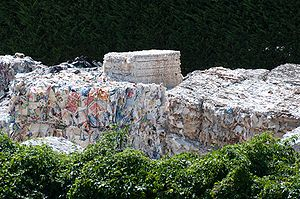 English: Used paper is collected for paper rec...