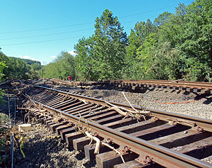 English: Tracks of the Metro-North Port Jervis...