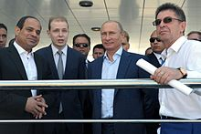 President Sisi (left) with President Vladimir Putin (2nd right)