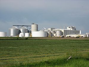 English: Ethanol plant in Turner County, South...